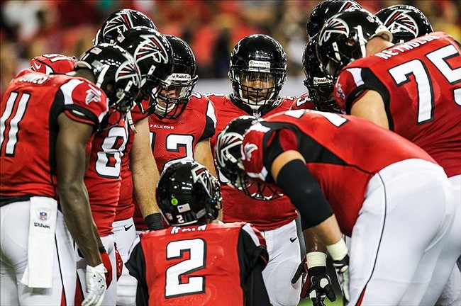 Image result for Falcons offensive huddle