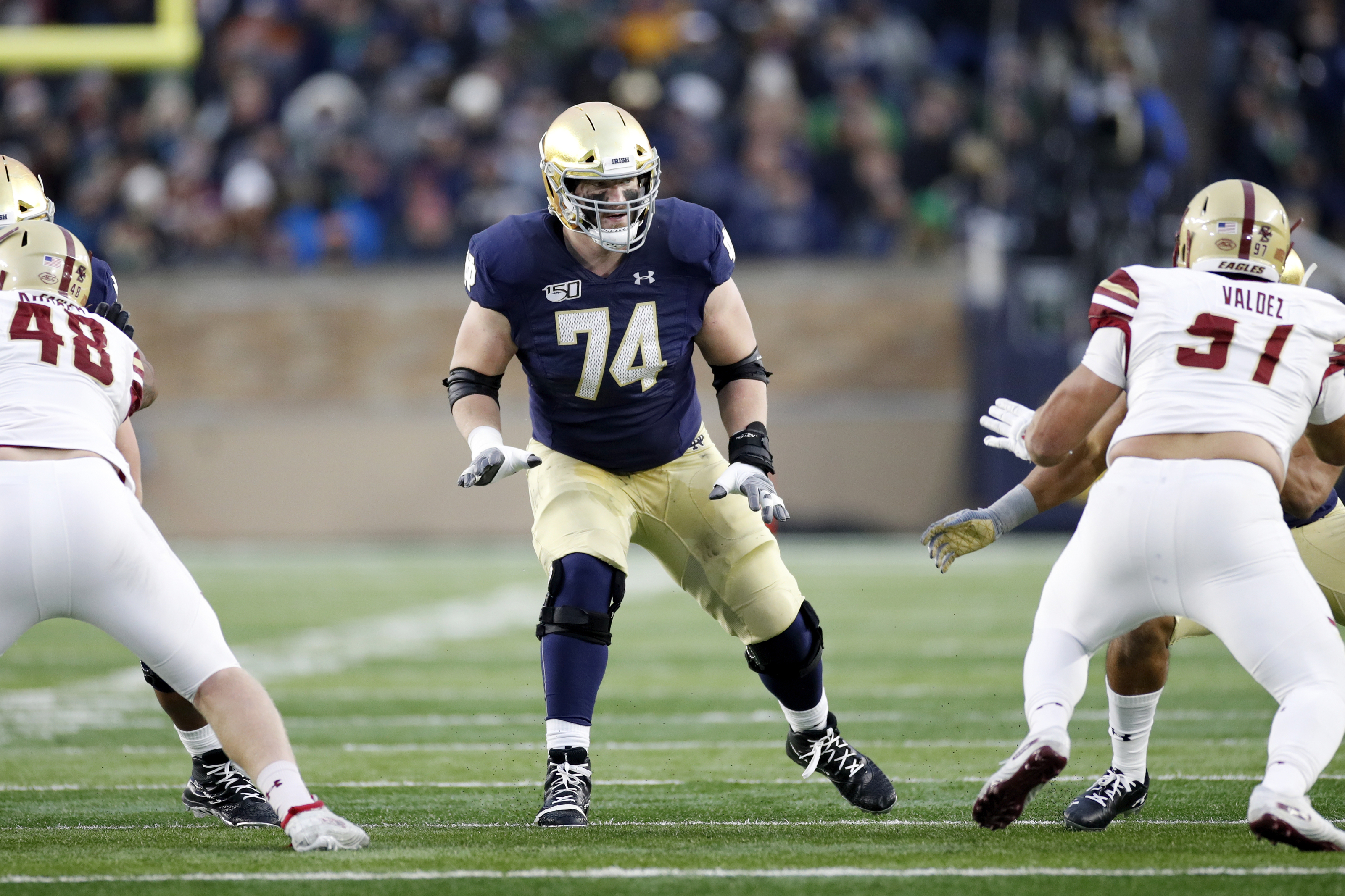 Should the Lions consider this promising offensive tackle in the draft?
