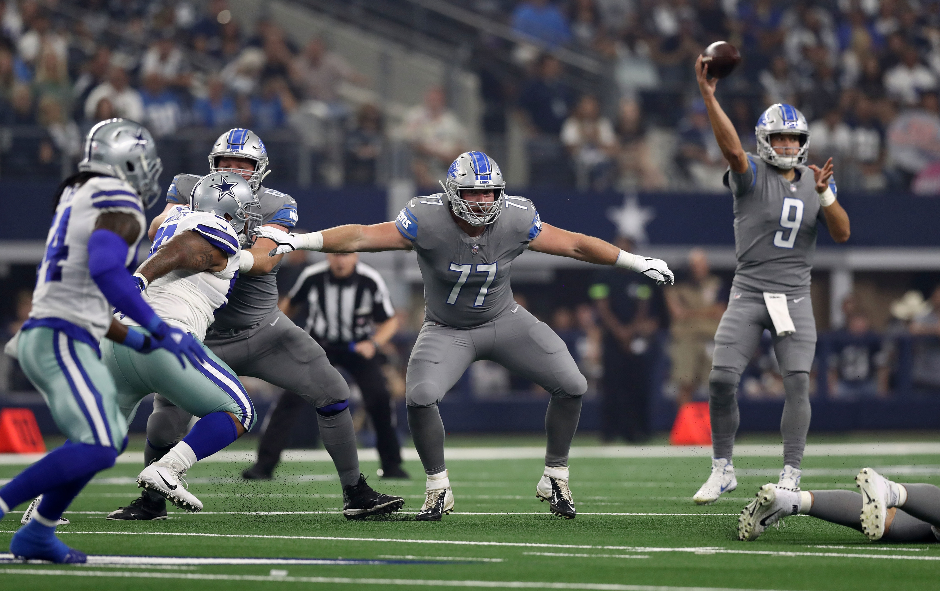 Where does the Detroit Lions offensive line stand now?